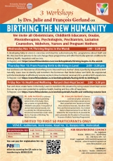 Three workshops on Birthing The New Humanity