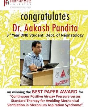 Congratulations Dr. Aakash Pandita