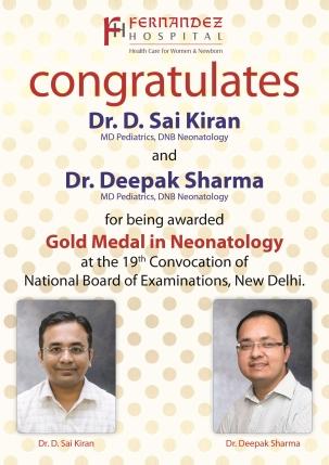 Congratulations Dr. Sai Kiran and Dr. Deepak