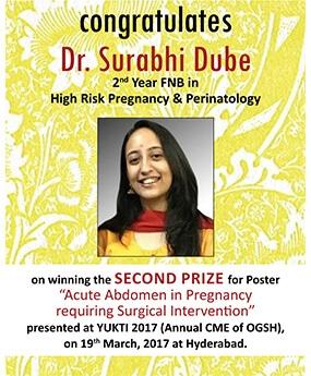 Congratulations Dr. Surabhi Dube