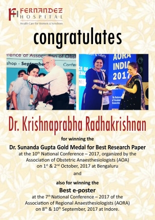 Congratulations Dr. Krishnaprabha