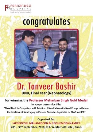 Congratulations Dr. Tanveer Bashir