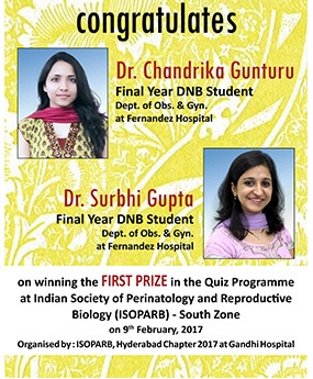 Congratulations Dr. Chandrika Gunturu and Dr. Surbhi Gupta.