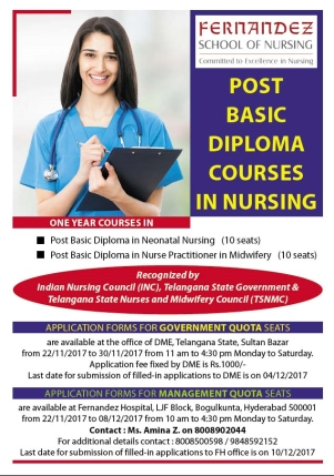 Post Basic Diploma Courses in Nursing